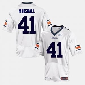 College Football For Men #41 Aidan Marshall Auburn Jersey White 114098-354