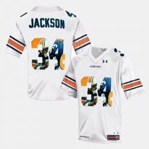 #34 Mens Throwback White Bo Jackson Auburn Jersey 306381-873