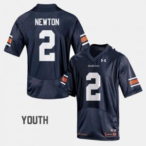 Cam Newton Auburn Jersey College Football Navy Kids #2 836140-515