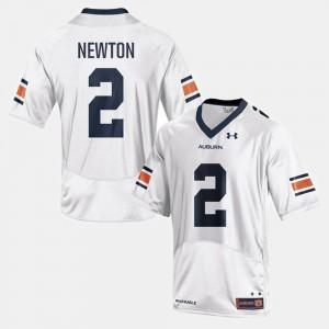 #2 Cam Newton Auburn Jersey College Football White Men's 201162-335