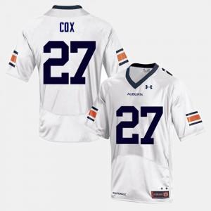 Chandler Cox Auburn Jersey White #27 Men College Football 829667-731