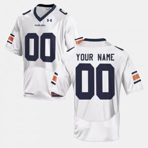 Auburn Custom Jersey College Football White #00 For Men 762207-398