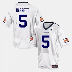 Men Devan Barrett Auburn Jersey White #5 College Football 788081-901