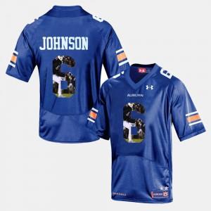 #6 Jeremy Johnson Auburn Jersey Men Player Pictorial Navy Blue 972804-179