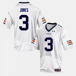White #3 College Football Jonathan Jones Auburn Jersey For Men's 342938-124
