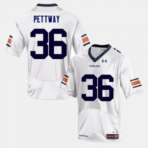 Kamryn Pettway Auburn Jersey White College Football #36 For Men 662448-990