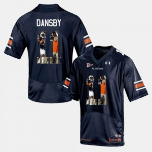 #11 Karlos Dansby Auburn Jersey Player Pictorial Navy Blue For Men 191487-719