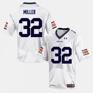 White #32 Malik Miller Auburn Jersey Mens College Football 874149-345