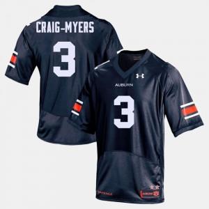 College Football Navy #3 Men Nate Craig-Myers Auburn Jersey 213848-181