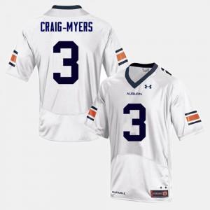 Nate Craig-Myers Auburn Jersey #3 Men White College Football 988487-753