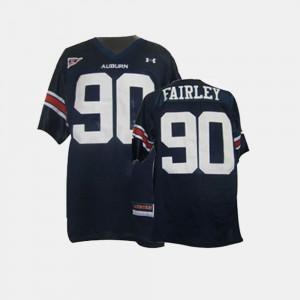For Men College Football Nick Fairley Auburn Jersey Blue #90 294821-816