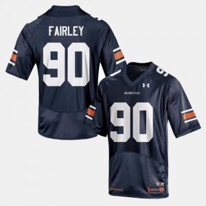 College Football #90 Mens Nick Fairley Auburn Jersey Navy 777070-760