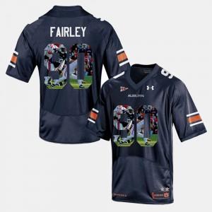 Nick Fairley Auburn Jersey #90 Player Pictorial Mens Navy Blue 629446-557