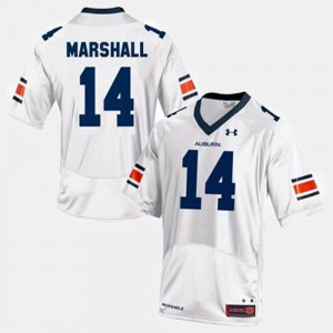 College Football #14 Nick Marshall Auburn Jersey Kids White 807004-521