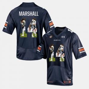 Nick Marshall Auburn Jersey Navy Blue Mens #14 Player Pictorial 596052-659