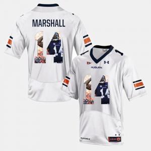 Player Pictorial For Men's Nick Marshall Auburn Jersey #14 White 991313-548