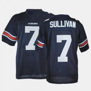 For Men's Pat Sullivan Auburn Jersey Blue #7 College Football 452160-345