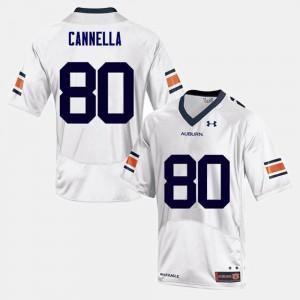 Men's College Football Sal Cannella Auburn Jersey White #80 833698-600