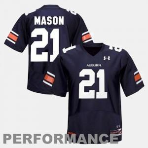 Blue College Football Mens #21 Tre Mason Auburn Jersey 586443-621