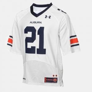 College Football White Men's #21 Tre Mason Auburn Jersey 925965-653