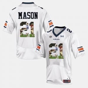 Player Pictorial #21 White For Men Tre Mason Auburn Jersey 410919-826