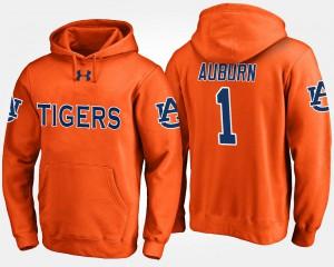 Auburn Hoodie For Men's No.1 Orange #1 188490-115