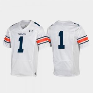 College Football Auburn Jersey White #1 Replica For Men 901199-533