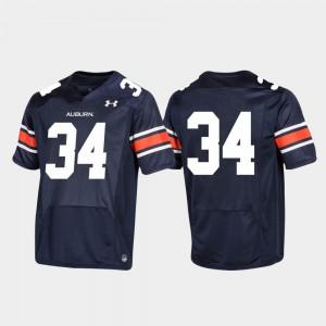 Auburn Jersey Replica Football Men #34 Navy 462414-562