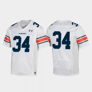 White Replica Auburn Jersey Mens Football #34 209290-822
