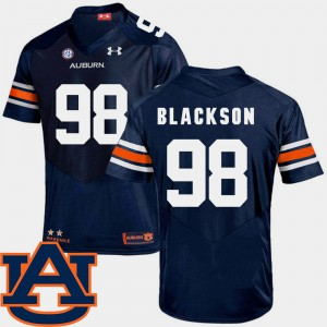 #98 Navy SEC Patch Replica College Football Angelo Blackson Auburn Jersey Men's 828352-629