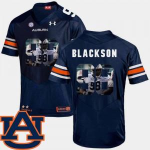 Football Mens Angelo Blackson Auburn Jersey Navy Pictorial Fashion #98 838193-305