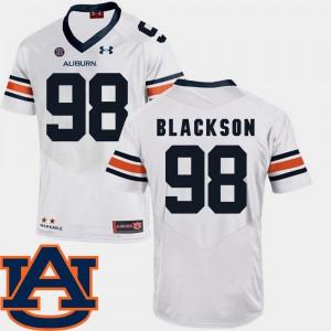 College Football Angelo Blackson Auburn Jersey White For Men #98 SEC Patch Replica 529833-847