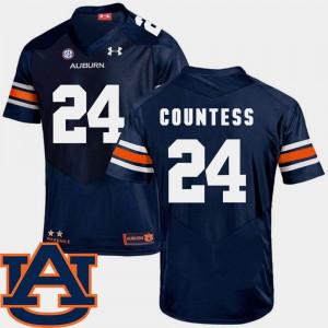 SEC Patch Replica College Football #24 Navy Blake Countess Auburn Jersey Men's 504106-835