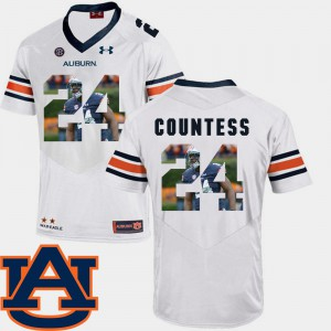 Blake Countess Auburn Jersey #24 Pictorial Fashion For Men Football White 854147-465