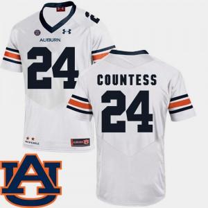 #24 White College Football Men SEC Patch Replica Blake Countess Auburn Jersey 897642-834