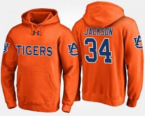 Bo Jackson Auburn Hoodie #34 For Men Orange 335398-676