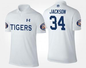 White #34 Bo Jackson Auburn Polo Men's 515017-806