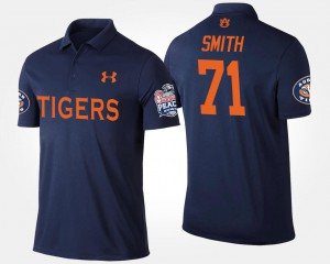 #71 Bowl Game Navy Peach Bowl Braden Smith Auburn Polo Mens 652158-947
