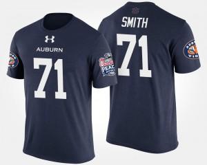 For Men's #71 Braden Smith Auburn T-Shirt Bowl Game Peach Bowl Navy 229225-831