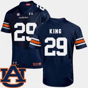 Navy College Football For Men SEC Patch Replica Brandon King Auburn Jersey #29 864568-579