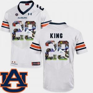 #29 Pictorial Fashion Football Brandon King Auburn Jersey White Men 253088-137