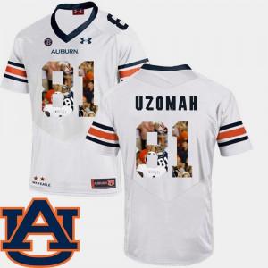 For Men White Football C.J. Uzomah Auburn Jersey Pictorial Fashion #81 983331-632