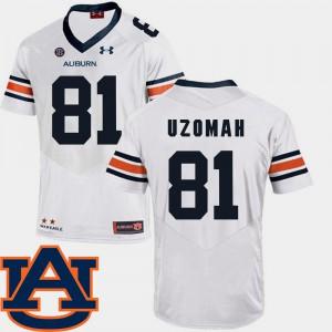 SEC Patch Replica White C.J. Uzomah Auburn Jersey College Football Mens #81 597076-337