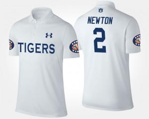 #2 White Cam Newton Auburn Polo Mens 918854-709