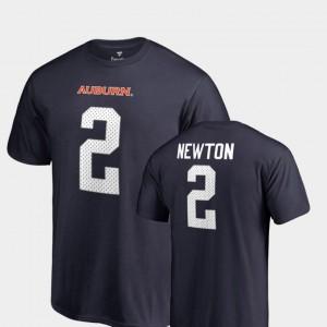 #2 Navy Name & Number College Legends For Men Cam Newton Auburn T-Shirt 891274-709