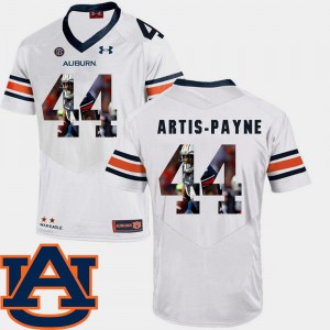 Cameron Artis-Payne Auburn Jersey White Football #44 Pictorial Fashion For Men 736478-430