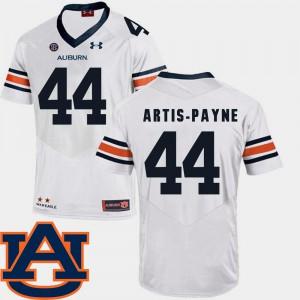 College Football Cameron Artis-Payne Auburn Jersey For Men's White #44 SEC Patch Replica 975675-601