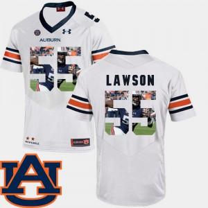 Pictorial Fashion Football For Men's #55 White Carl Lawson Auburn Jersey 833967-550