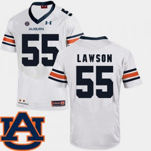 #55 White College Football Mens Carl Lawson Auburn Jersey SEC Patch Replica 403641-276