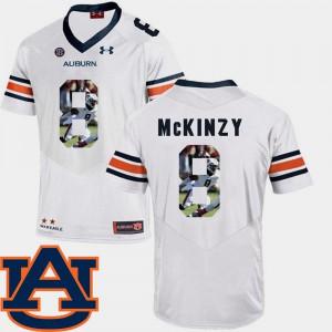 Cassanova McKinzy Auburn Jersey White Pictorial Fashion #8 Football For Men's 924411-230